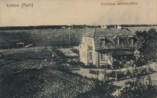 Lindow (Mark), Brandenburg: Forsthaus Wilhelmsh�he