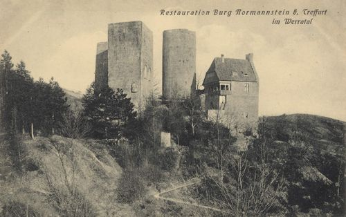 Treffurt (Werra), Th�ringen: Restauration Burg Normannstein