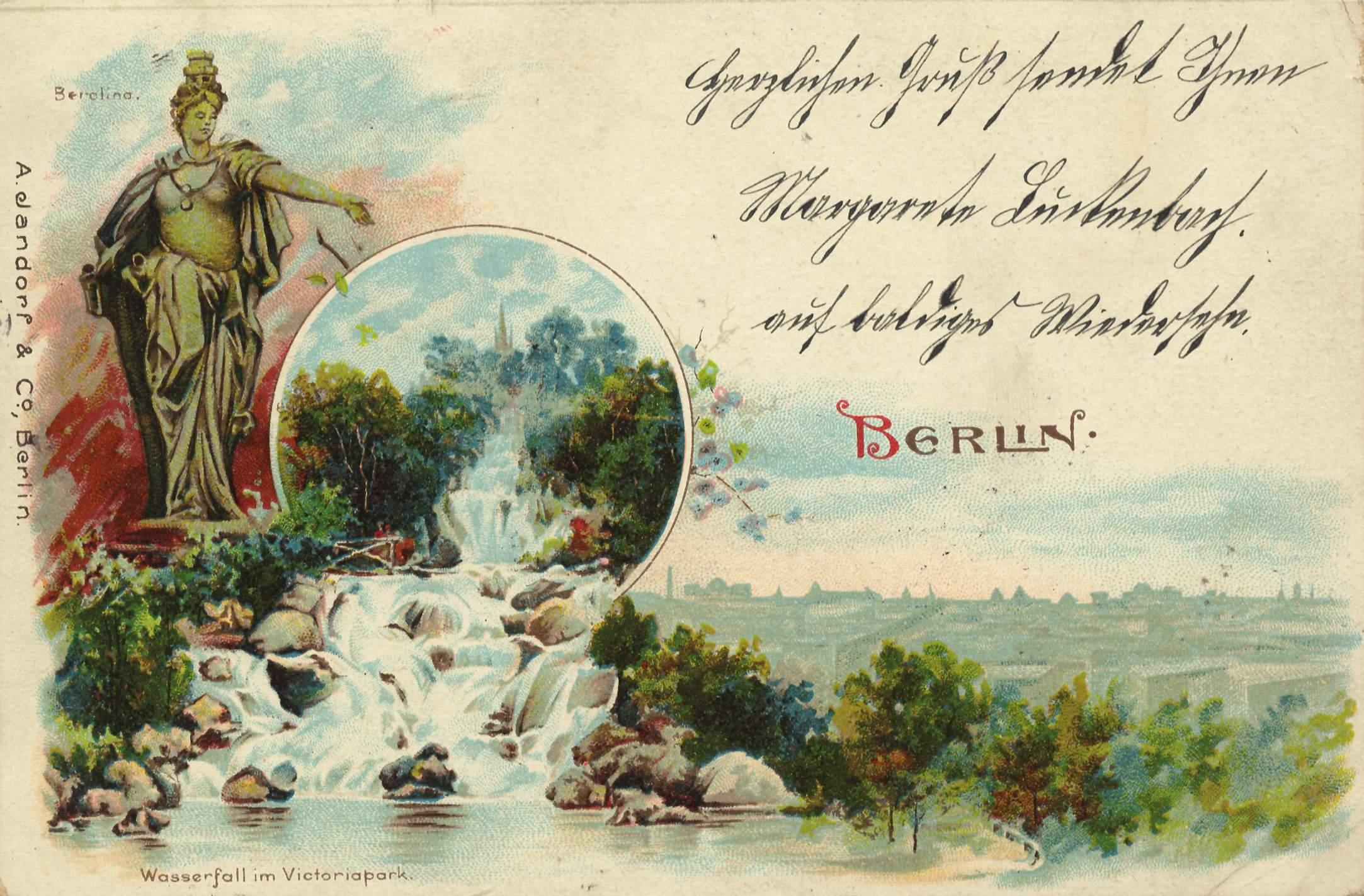 berlin kreuzberg berlin berolina wasserfall im viktoriapark. Black Bedroom Furniture Sets. Home Design Ideas