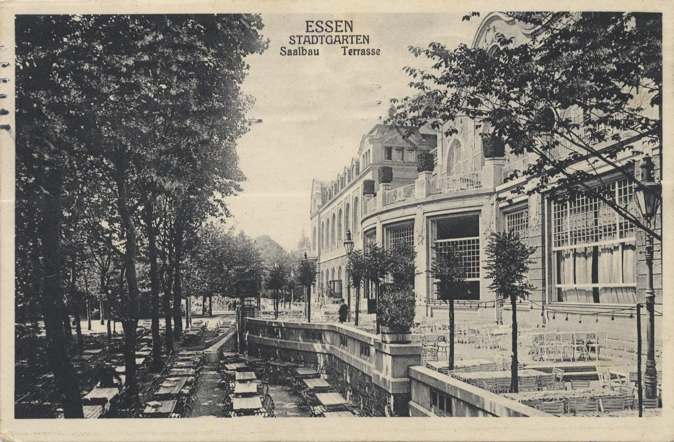 Essen ruhr nordrhein westfalen stadtgarten saalbau terrasse - Stadtgarten dortmund ...