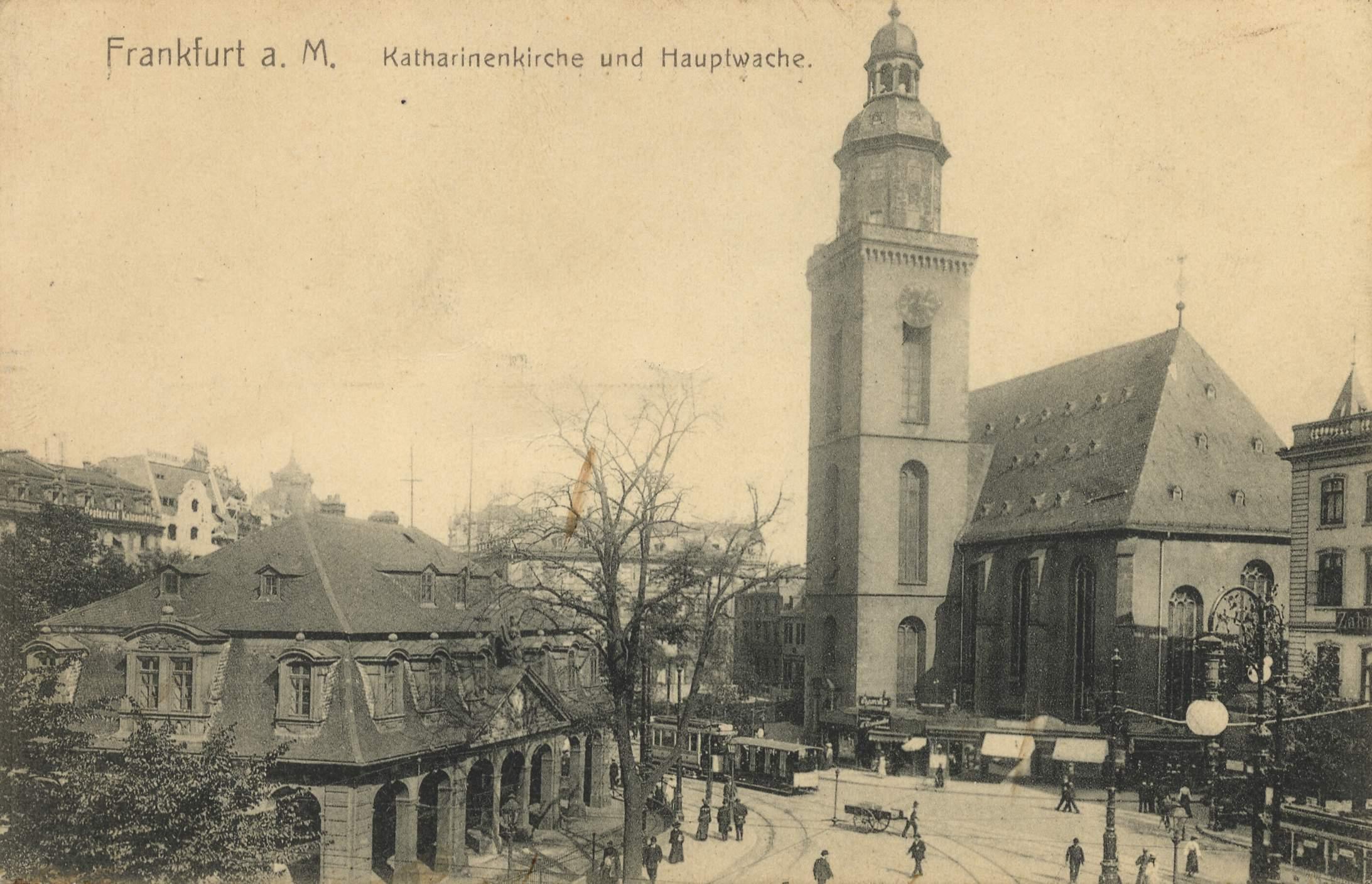 frankfurt a main hessen katharinenkirche und hauptwache. Black Bedroom Furniture Sets. Home Design Ideas