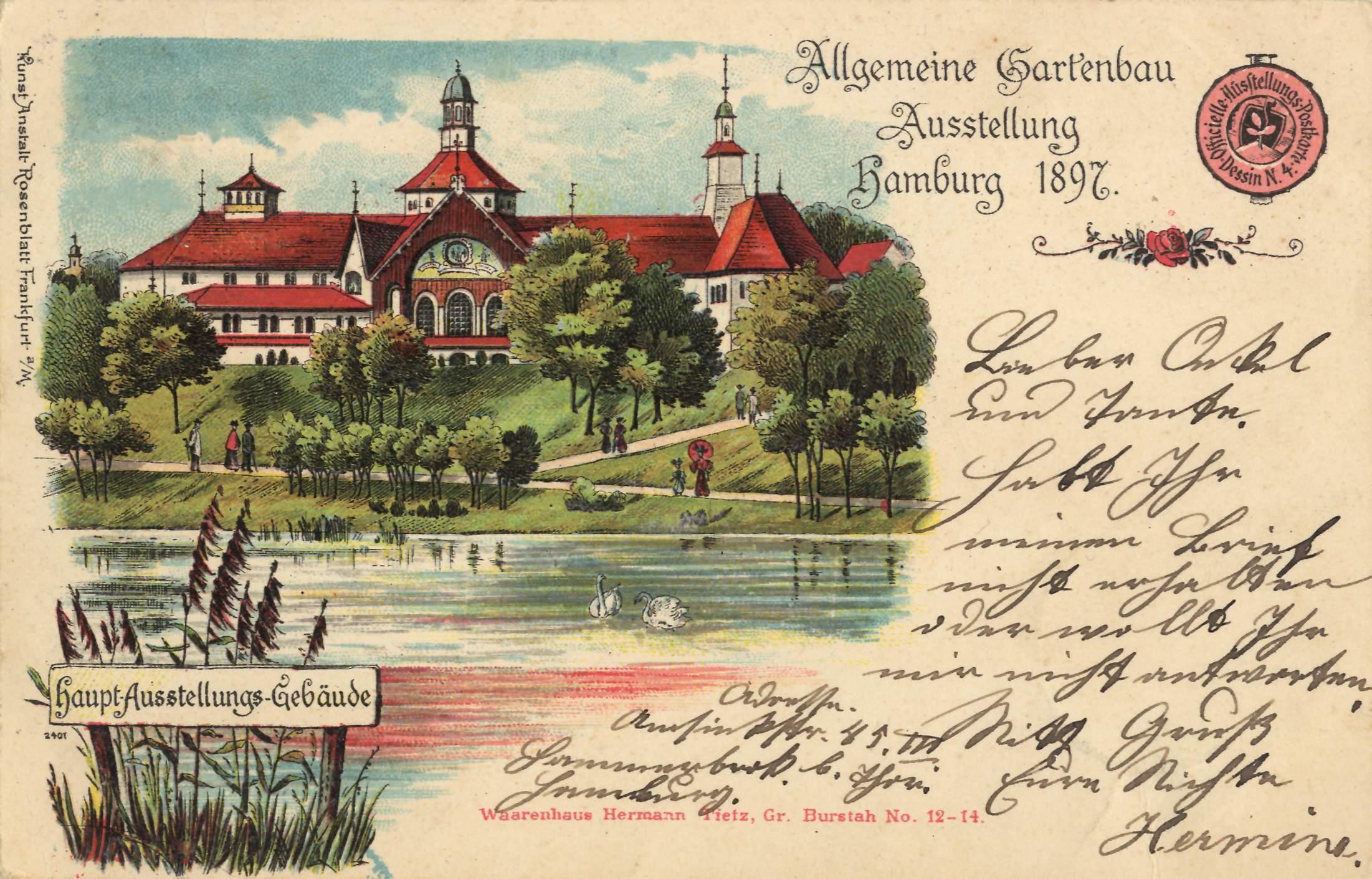 Hamburg hamburg allgemeine gartenbau ausstellung 1897 for Gartenbau hamburg