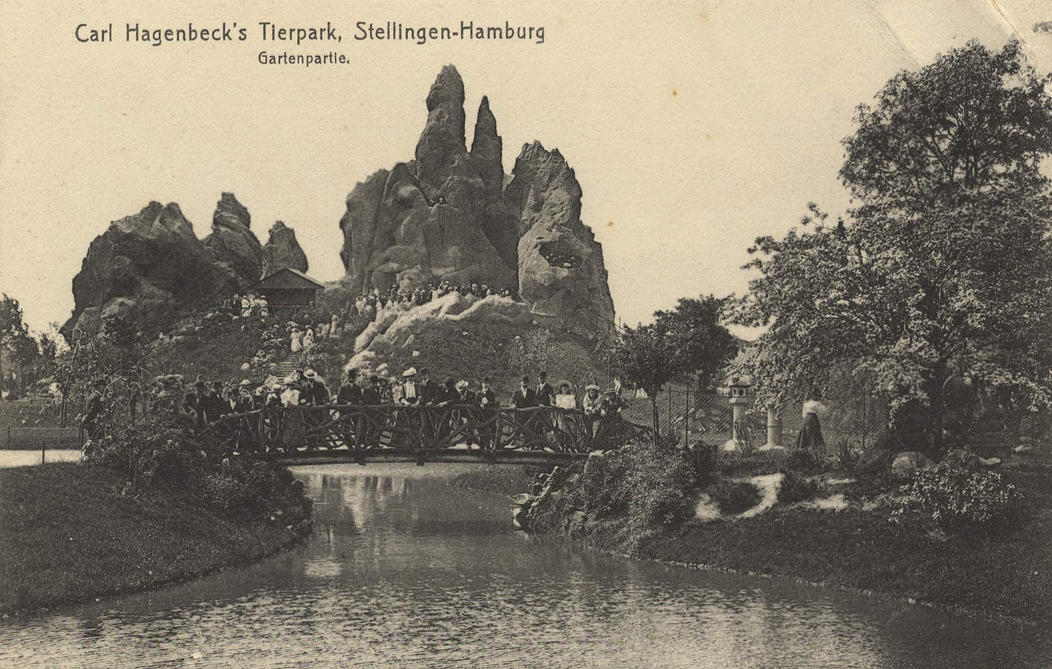 Hamburg, Hamburg: Zoologischer Garten; Carl Hagenbecks Tierpark;  Gartenpartie