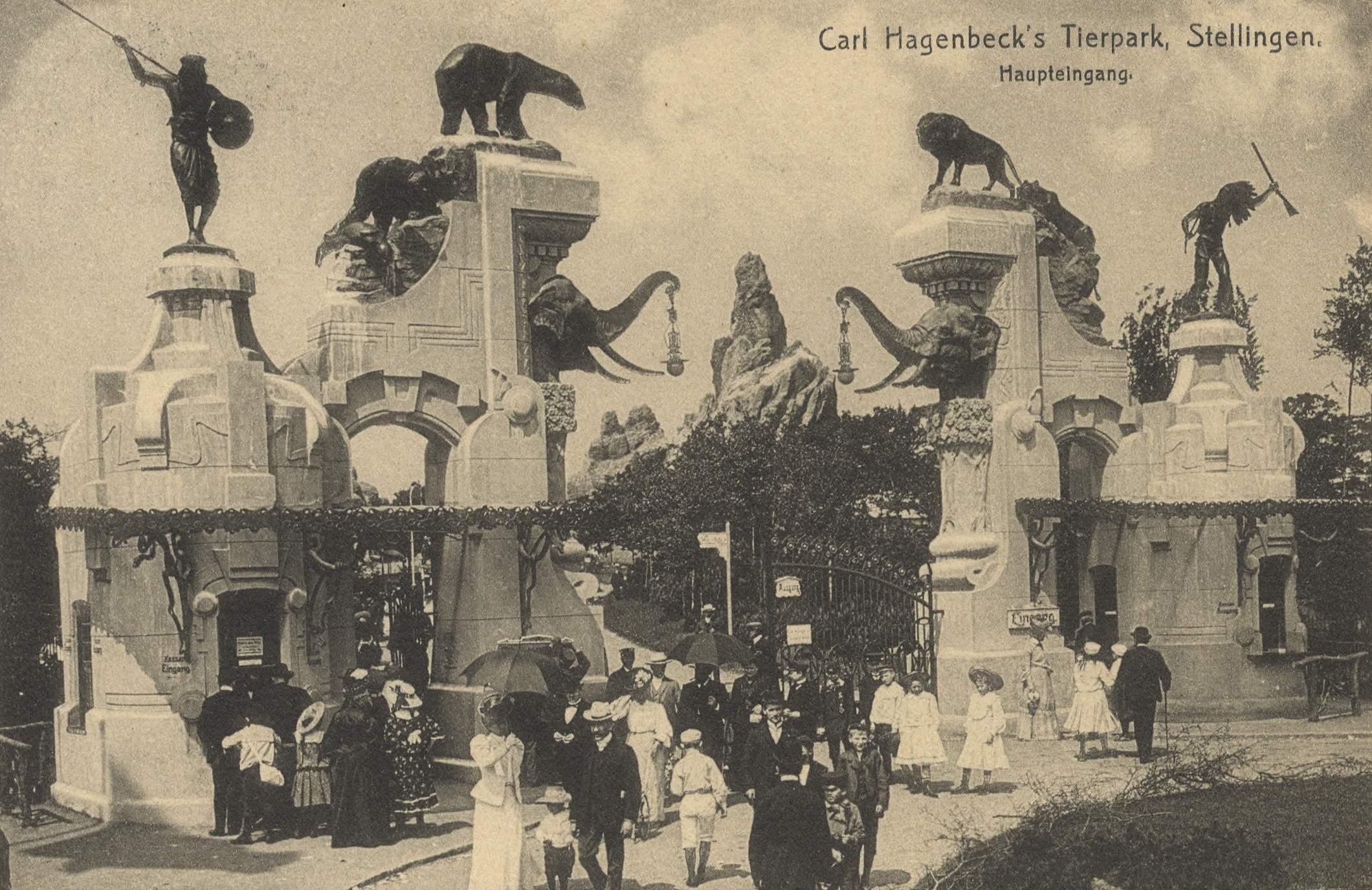 Bon Hamburg, Hamburg: Zoologischer Garten; Carl Hagenbecks Tierpark;  Haupteingang