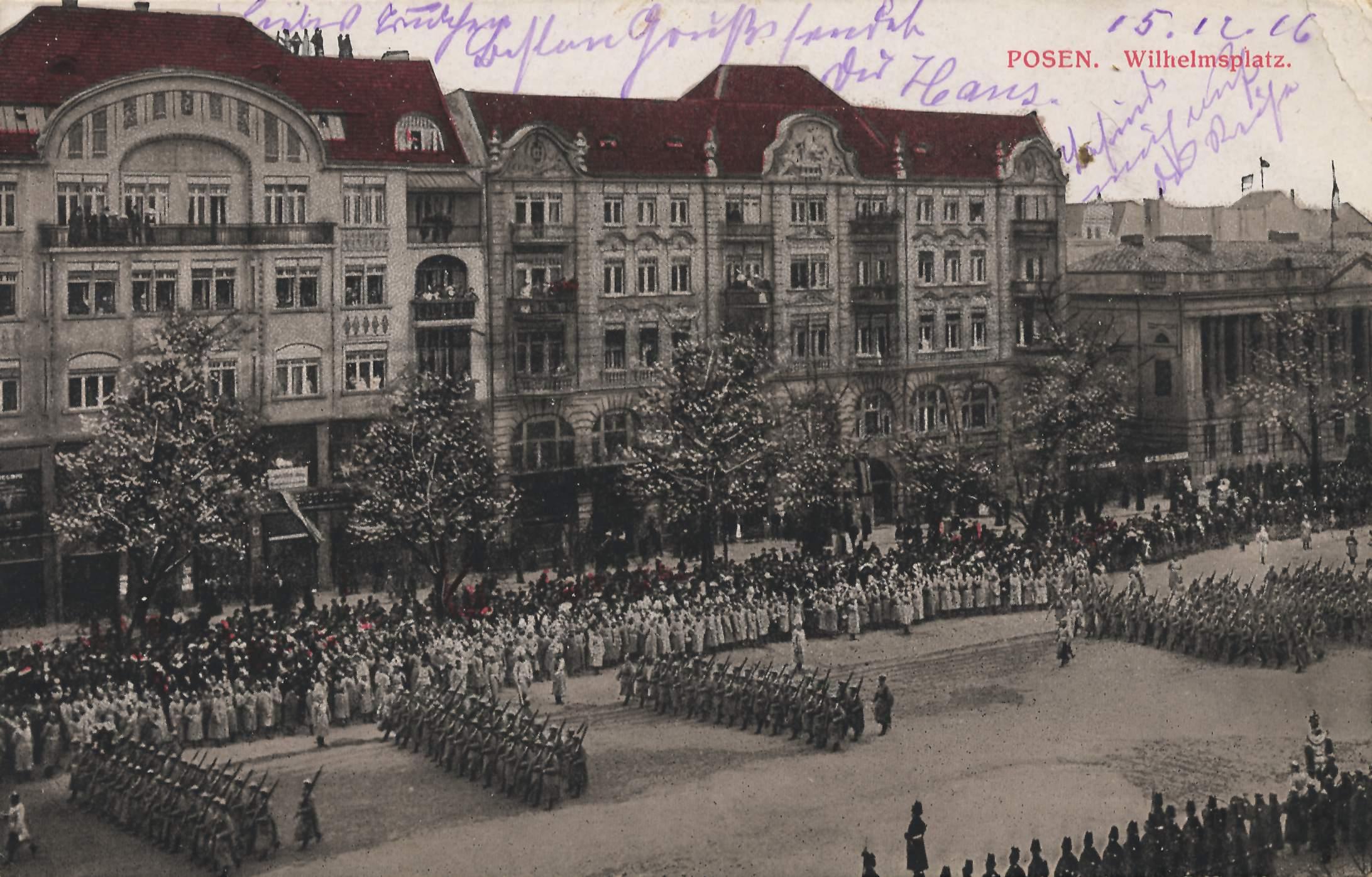 Posen Posen Wilhelmsplatz Zenoorg