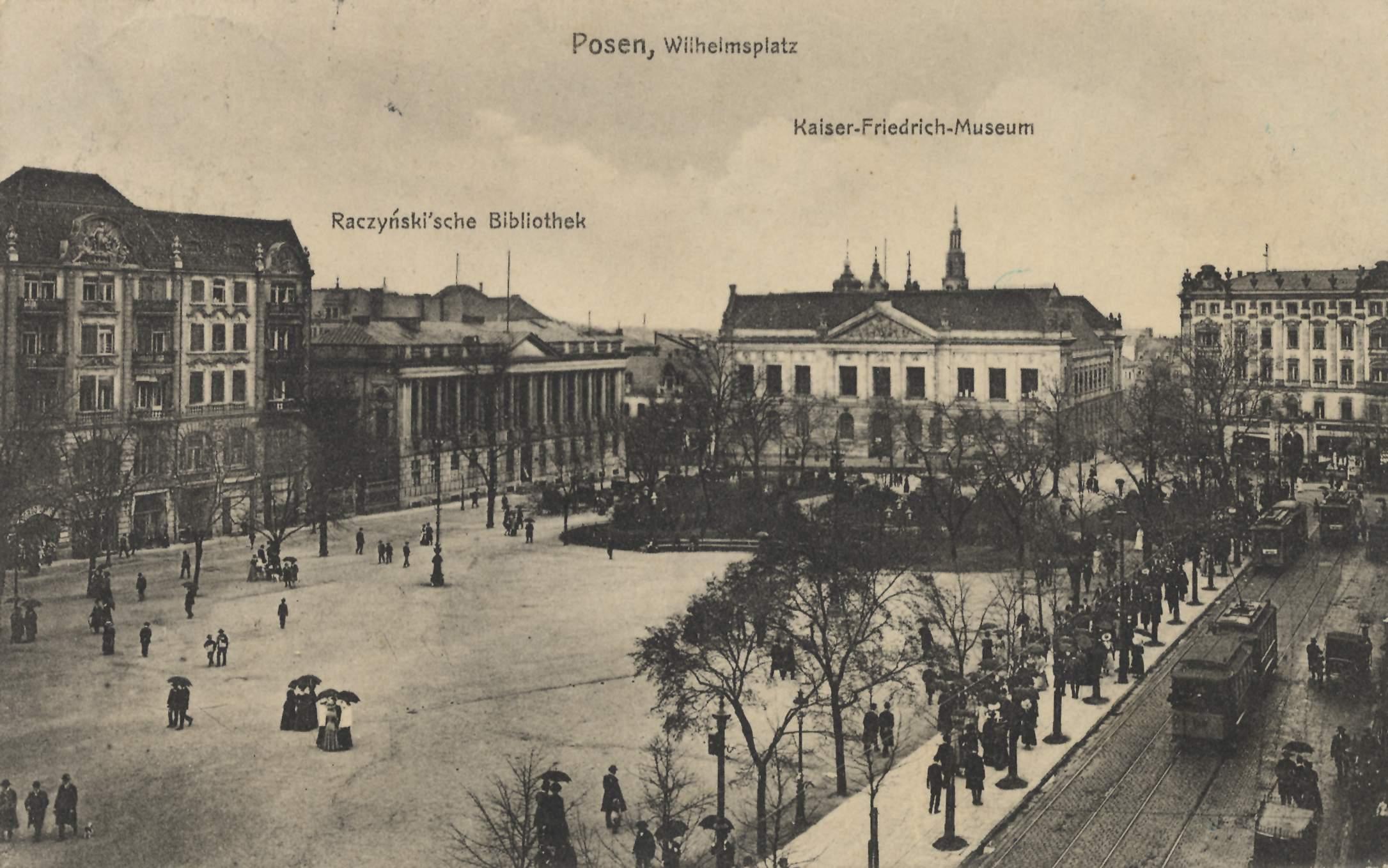 Posen Posen Wilhelmsplatz Raczyskische Bibliothek Kaiser