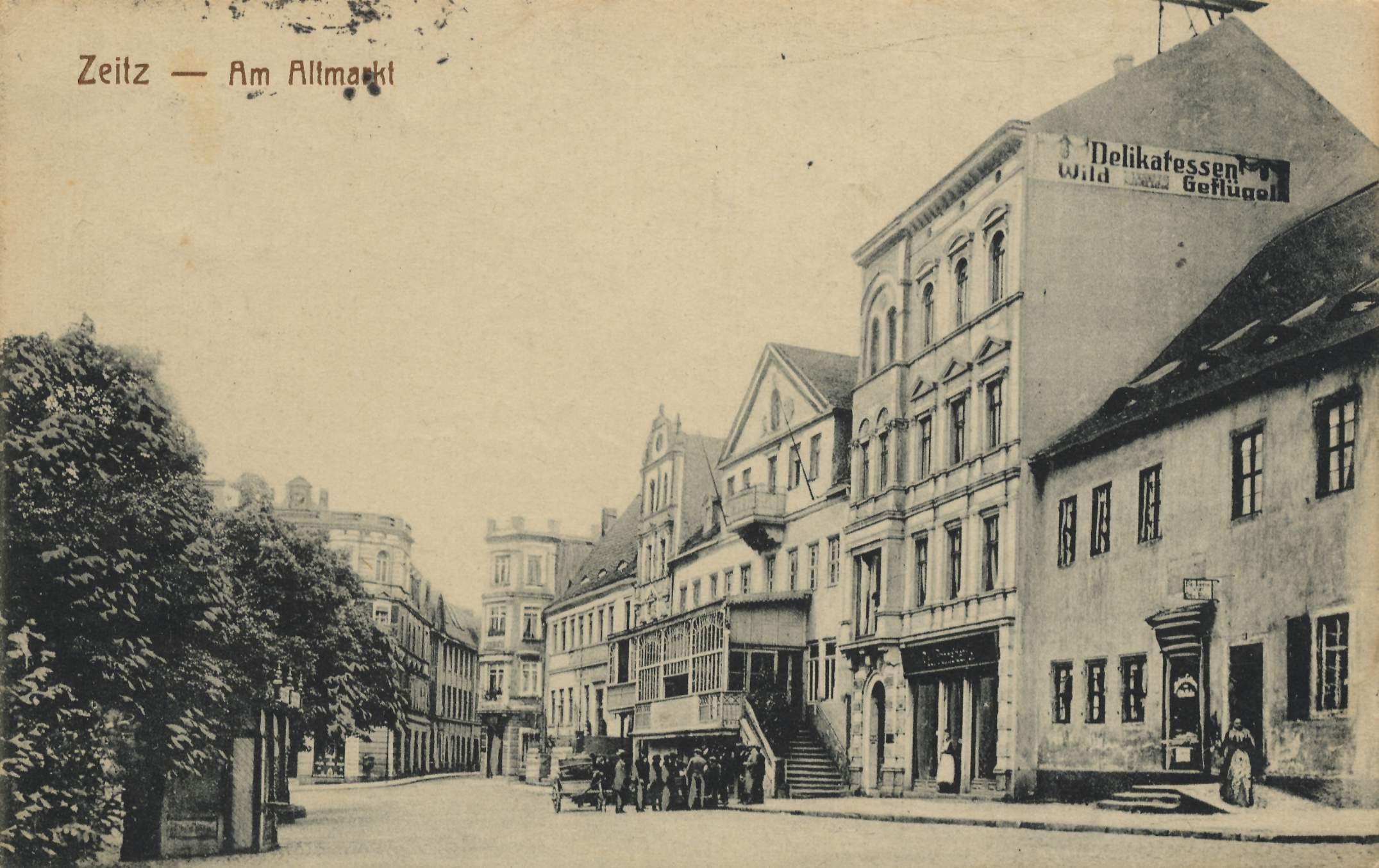 Zeitz, Sachsen-Anhalt, Am Altmarkt - Zeno.org