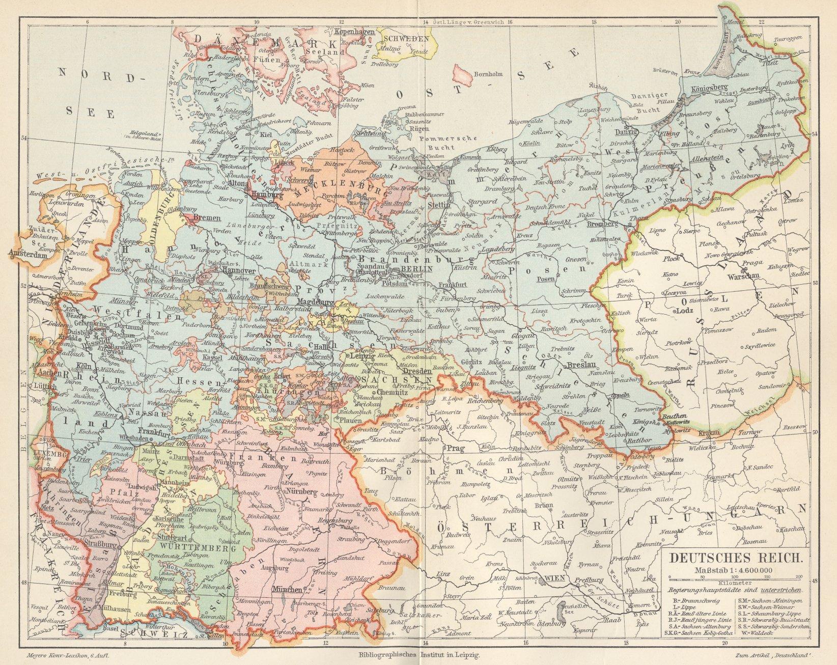 deutsches reich karte 1914