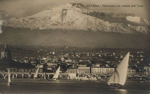 Ansicht mit Catania (Sizilien)