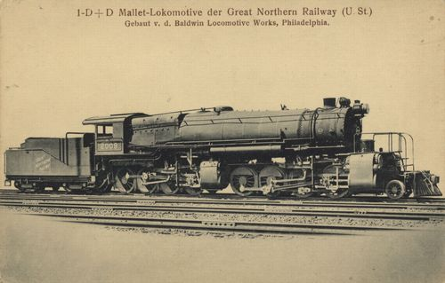 1-D+D Mallet-Lokomotive der Great Northern Railway (U. St.)