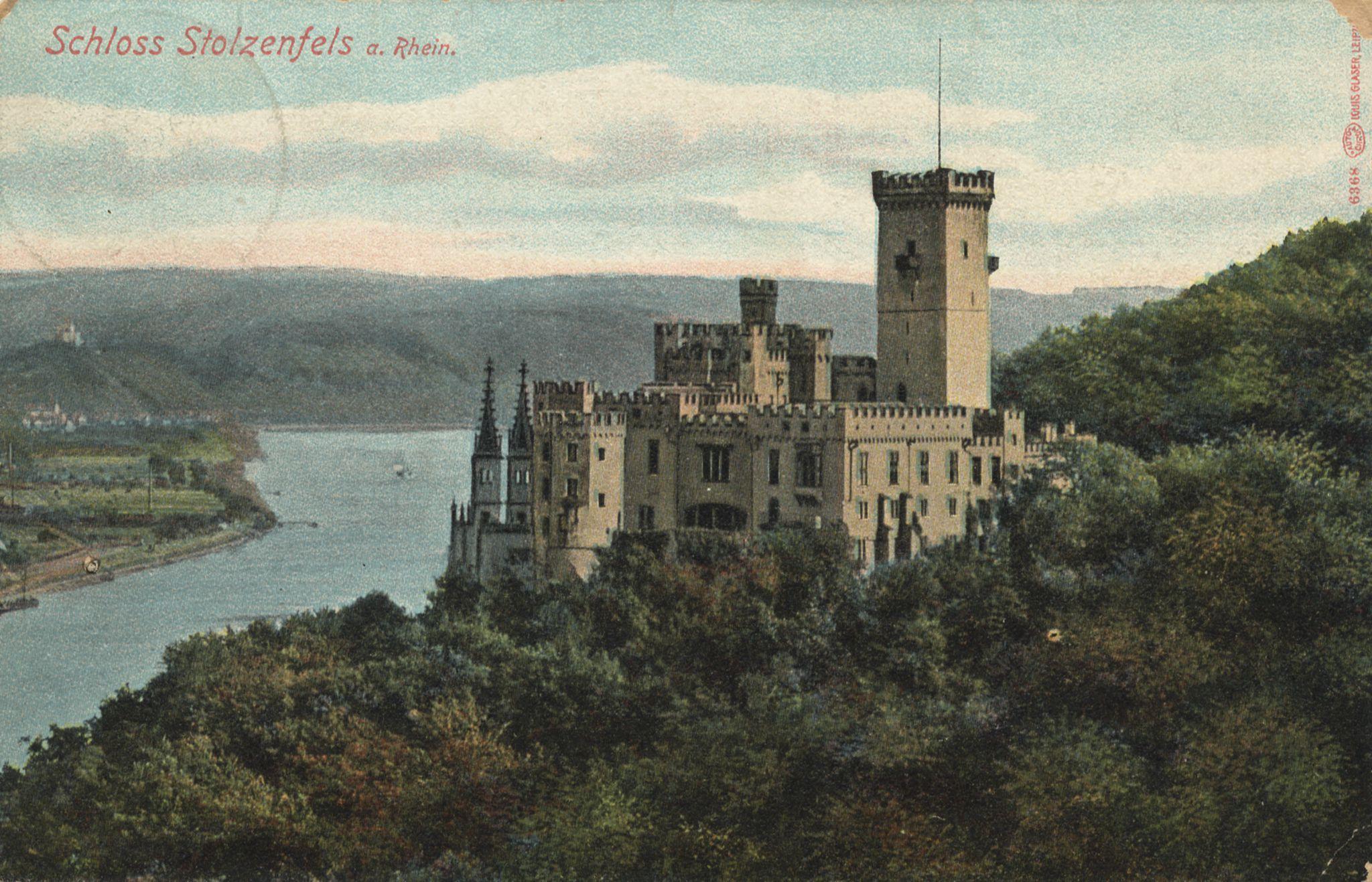 Besondere Ansichten, Schlösser und Burgen, Schloss Stolzenfels am Rhein www.zeno.org Schloss Stolzenfels am Rhein