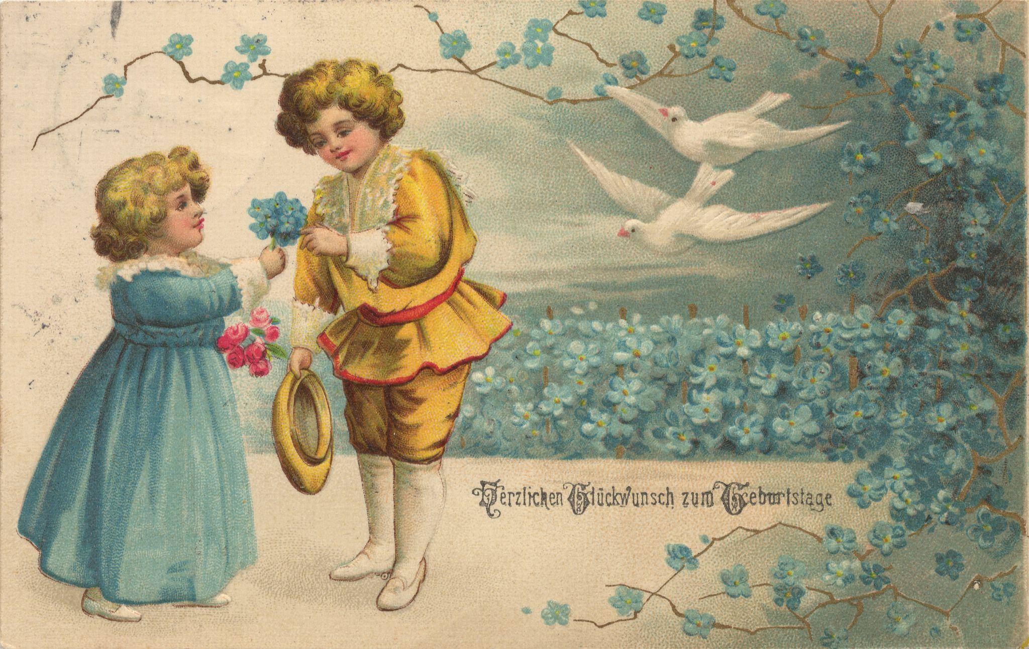 Иностранные поздравительные открытки с