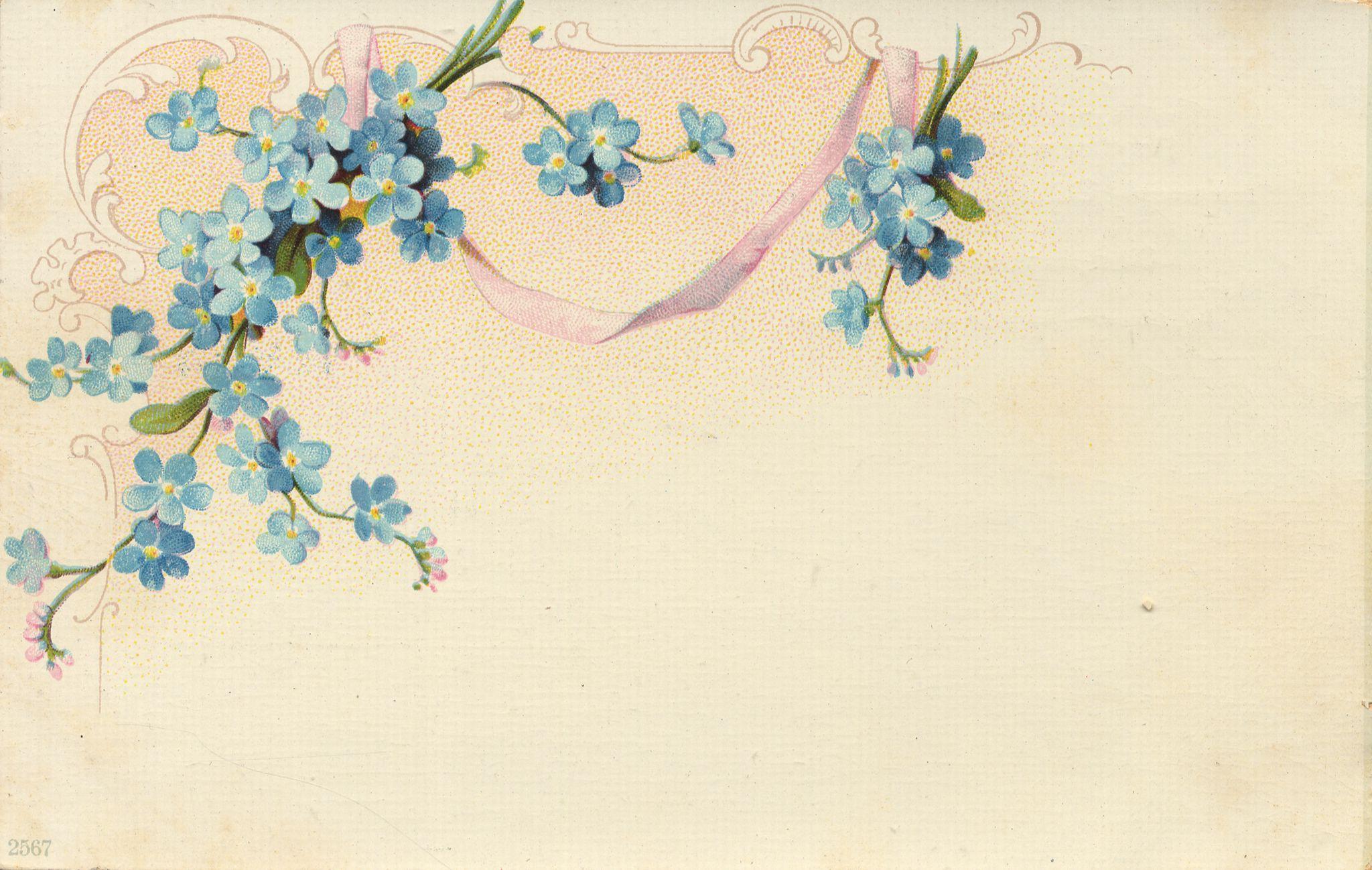 Пригласительные открытки с цветком