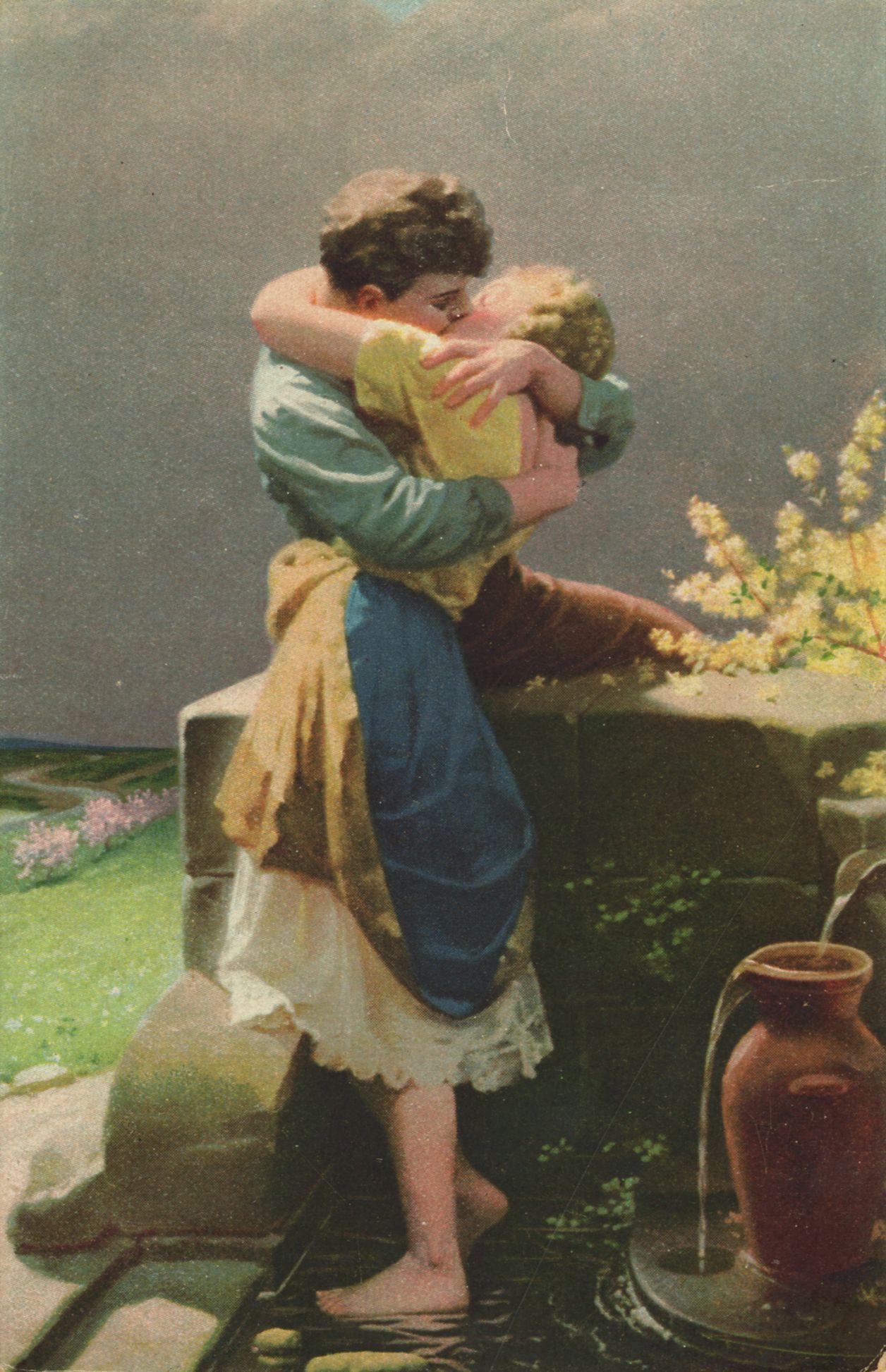 Erotik, Paare, Küssende am Brunnen - Zeno.org