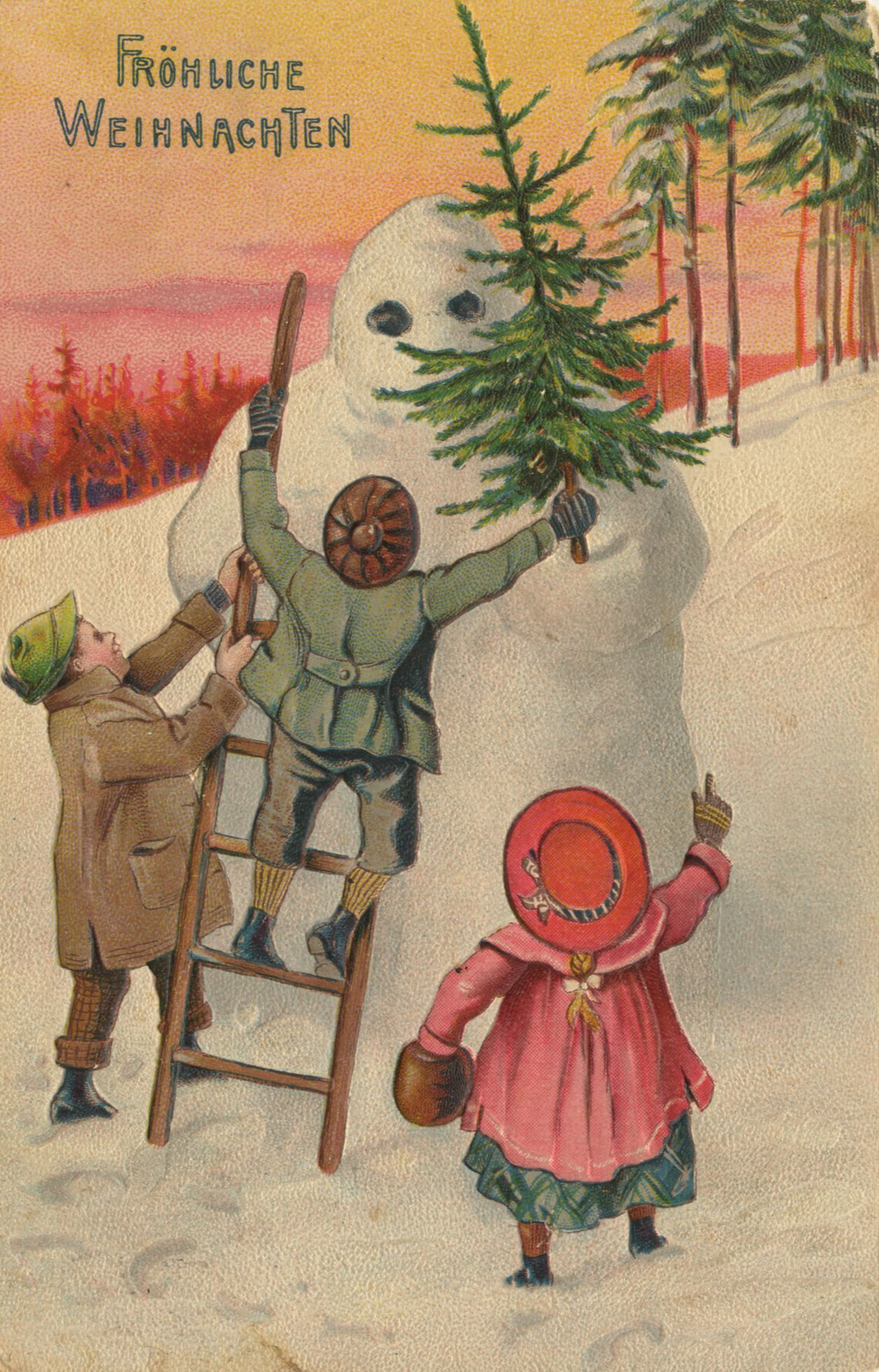 С рождеством на немецком языке открытка