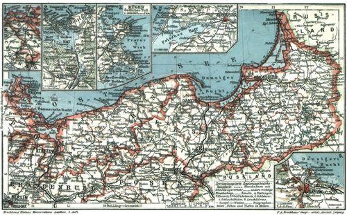 Karte Ostpreußen.Karten Und Tafeln Ostpreußen Westpreußen Und Pommern Zeno Org