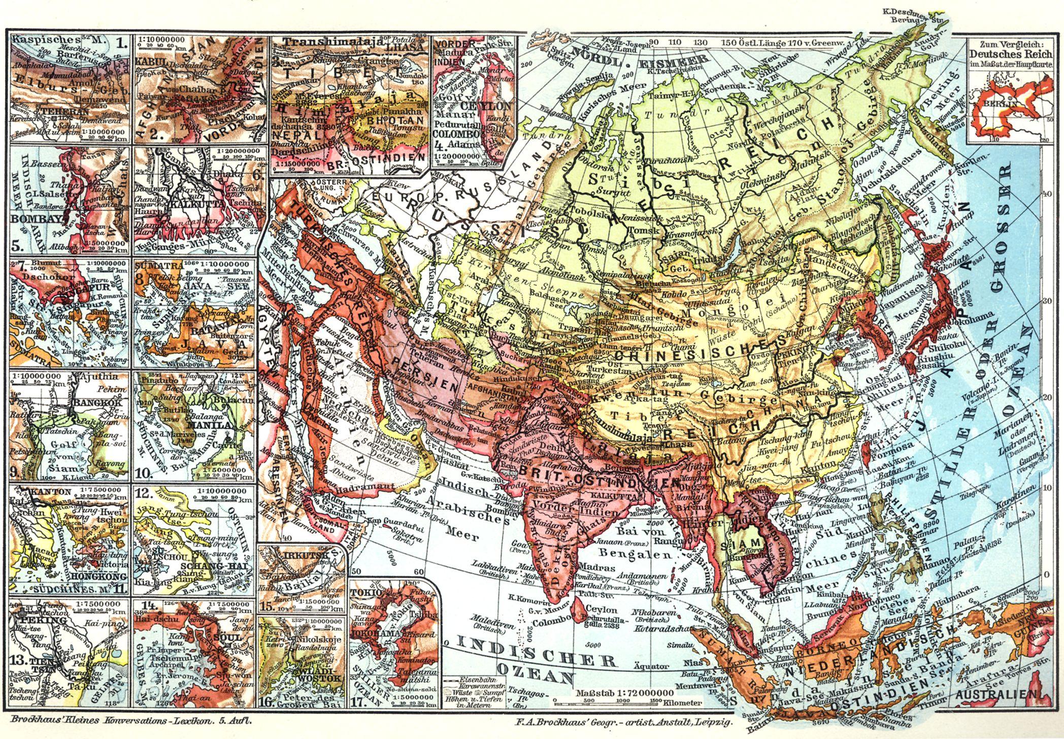 Asien i karten