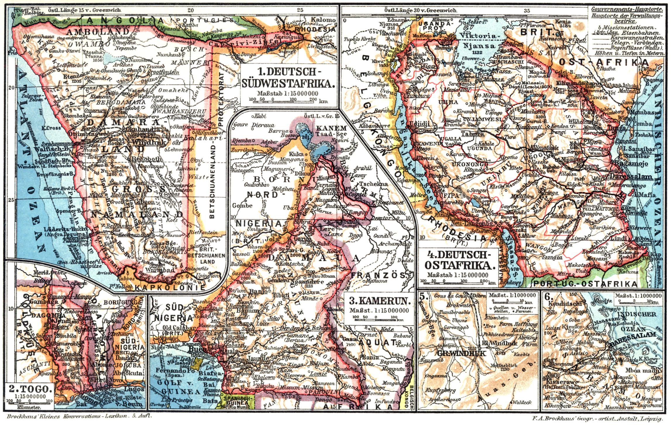 Karte Afrika Kolonien.Deutsch Ostafrika Zeno Org