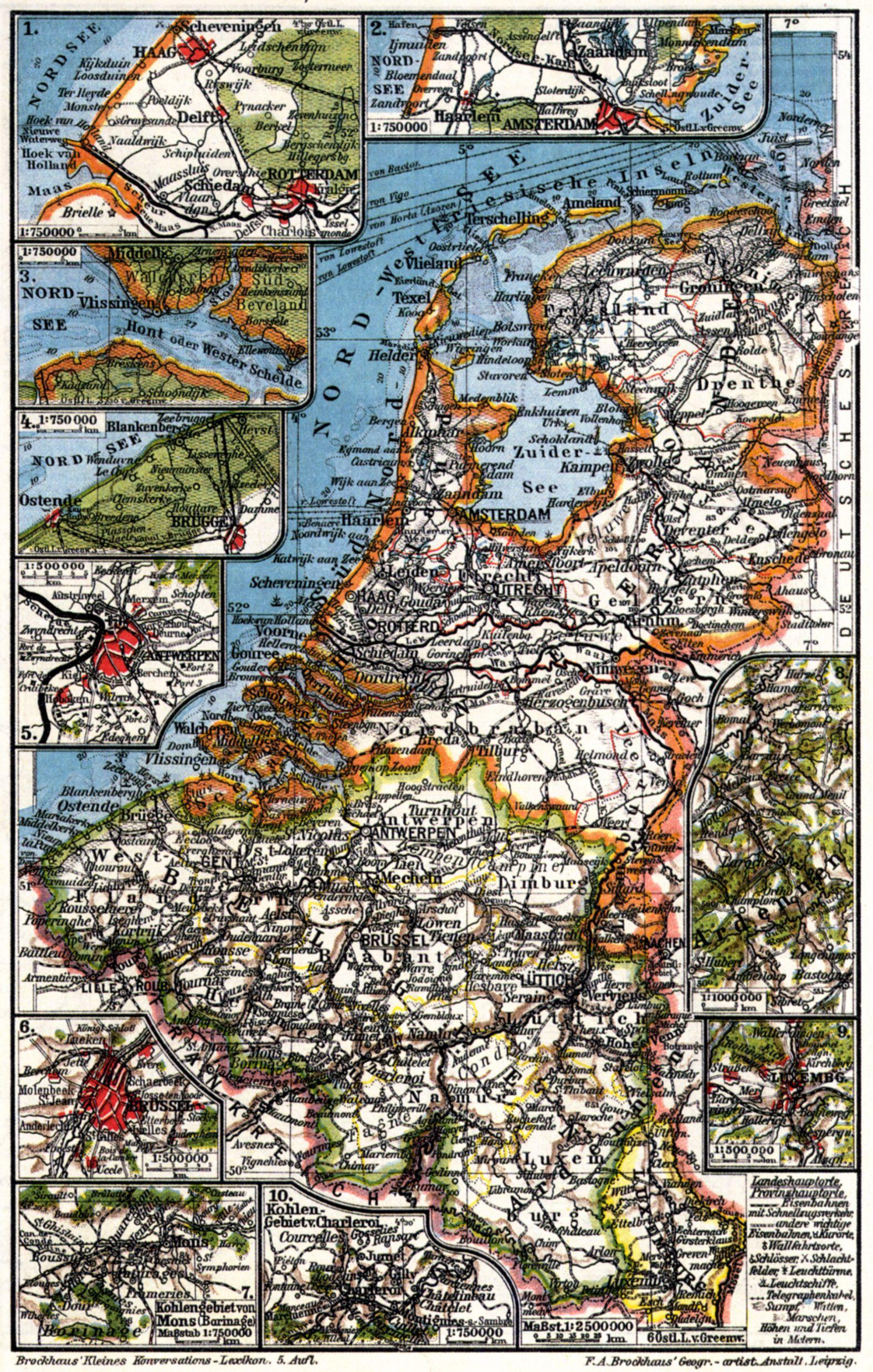 Niederlande Belgien Und Luxemburg I Karten Zeno Org