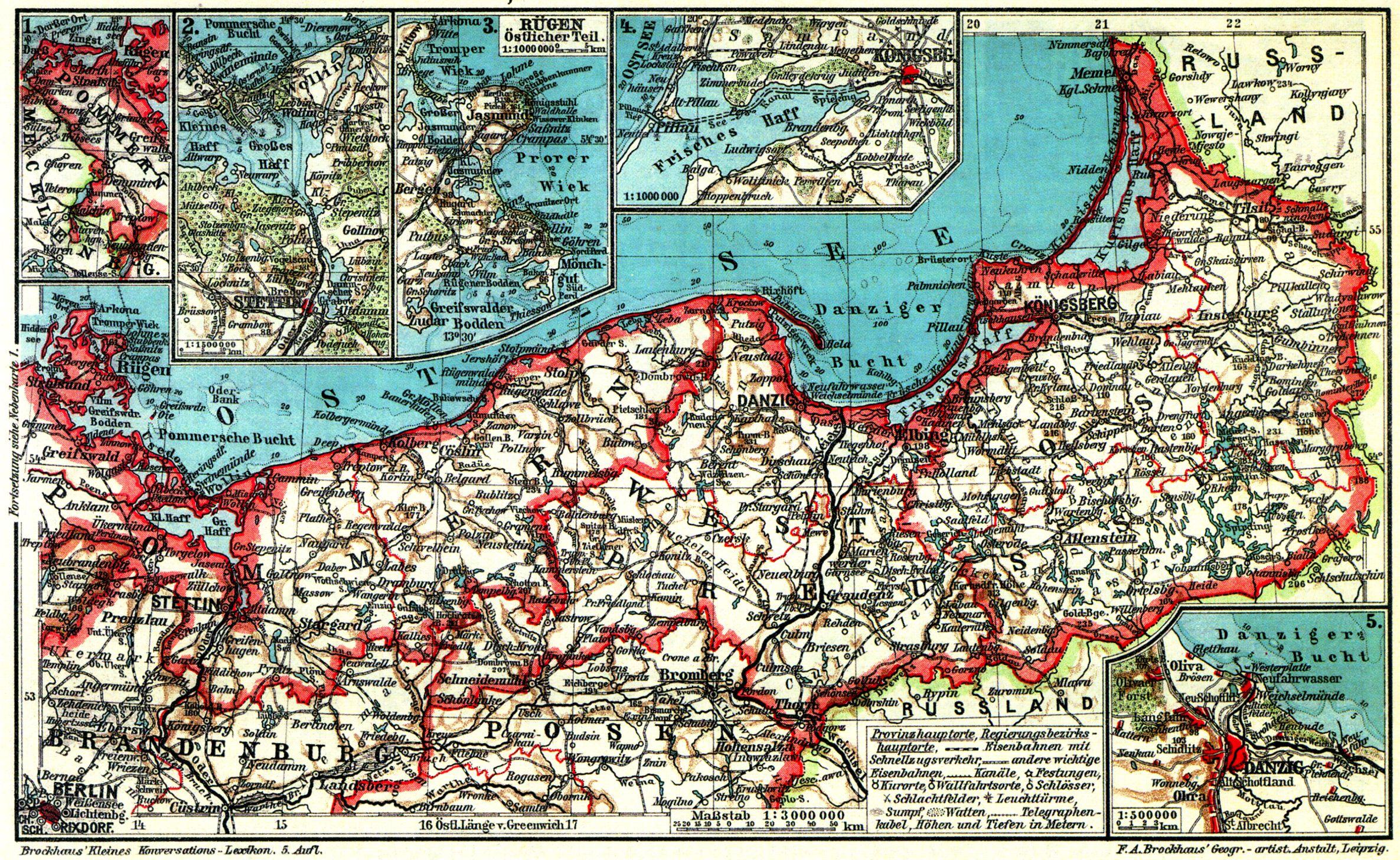 Karte Ostpreußen.Ostpreußen Westpreußen Und Pommern I Karten Zeno Org