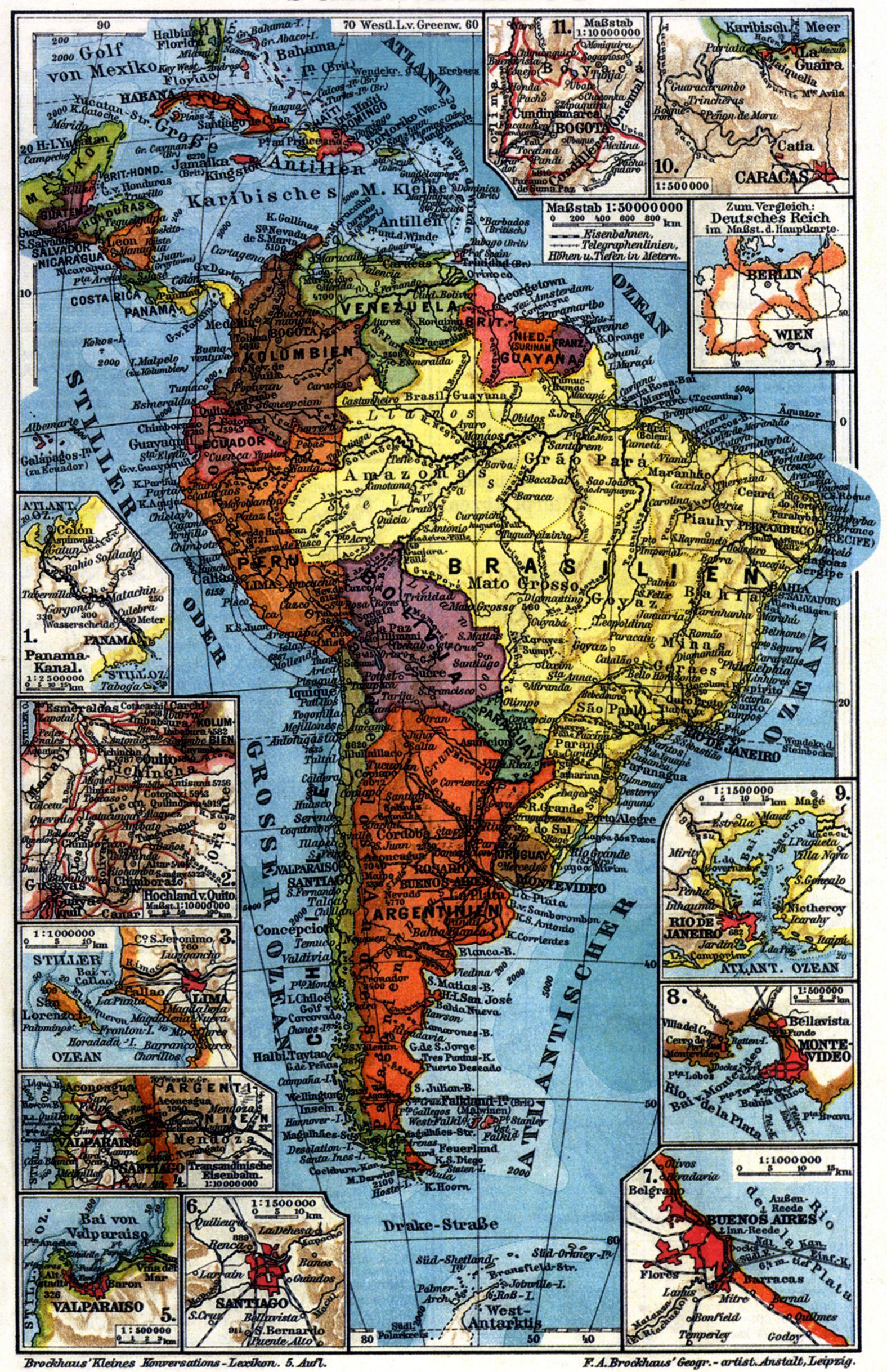 Südamerika Karte Länder.La Plata Länder Zeno Org