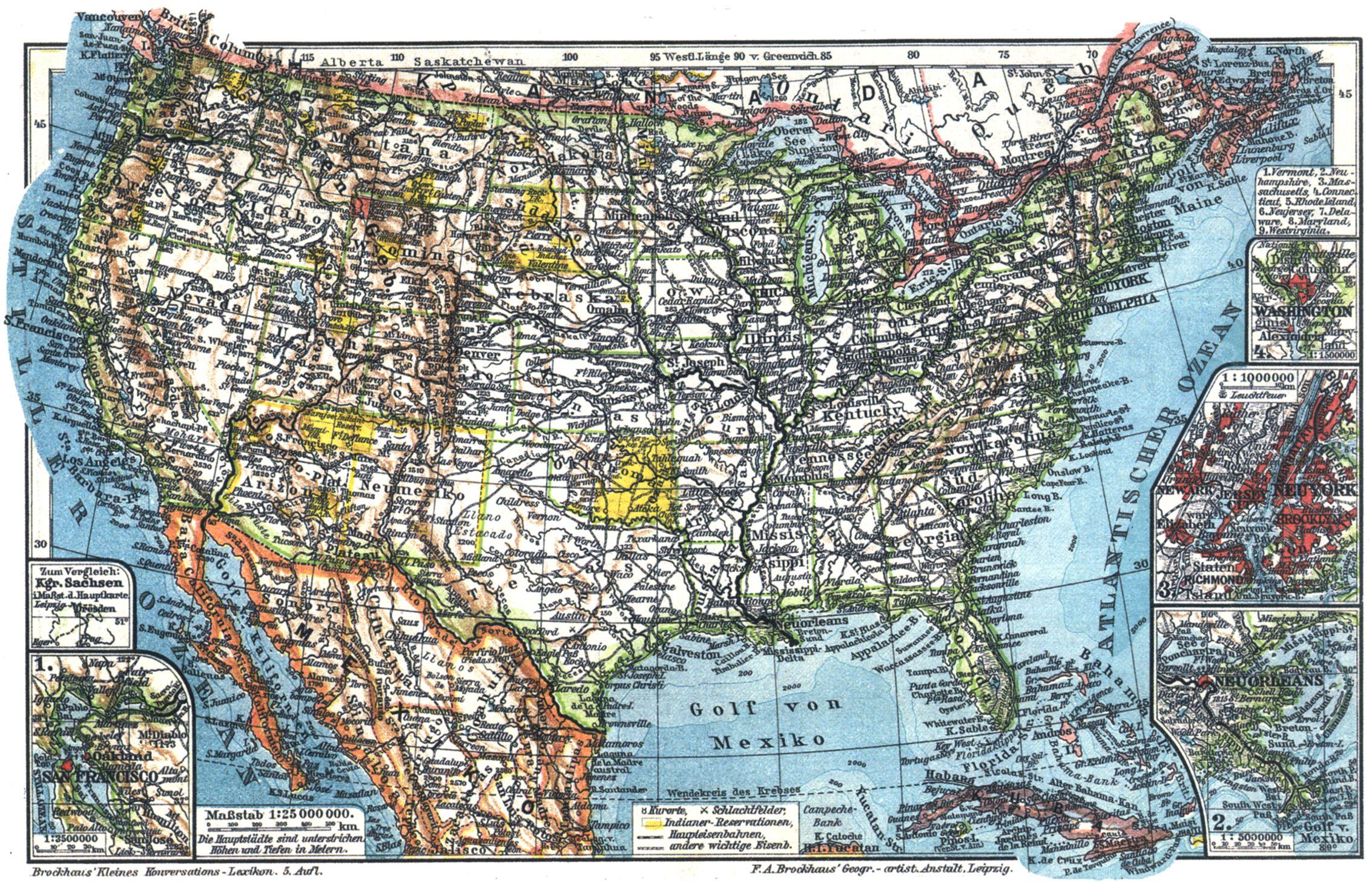 Vereinigte Staaten Von Amerika I Karten Zeno Org