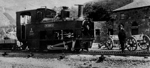 Frith, Francis: Llanberis, Snowdon Mountain Bahn Lokomotive