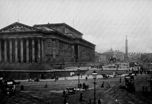 Frith, Francis: Lime Street und St. George's Hall, Liverpool