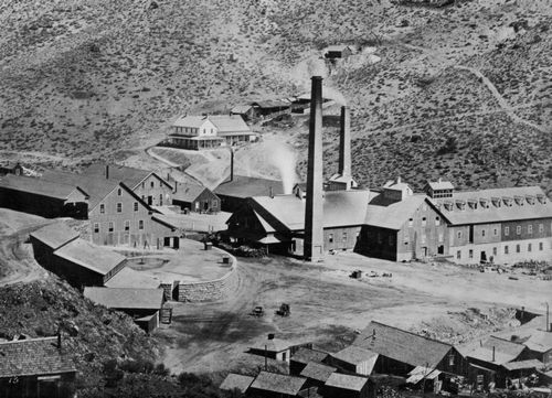 O'Sullivan, Timothy H.: Virginia City, Nevada, die Gold und die Curry Mühle