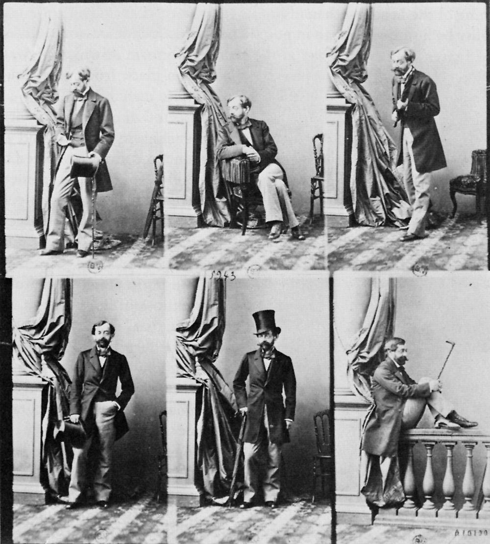 Disdéri, André Adolphe Eugène: Ungeschnittenes Blatt mit