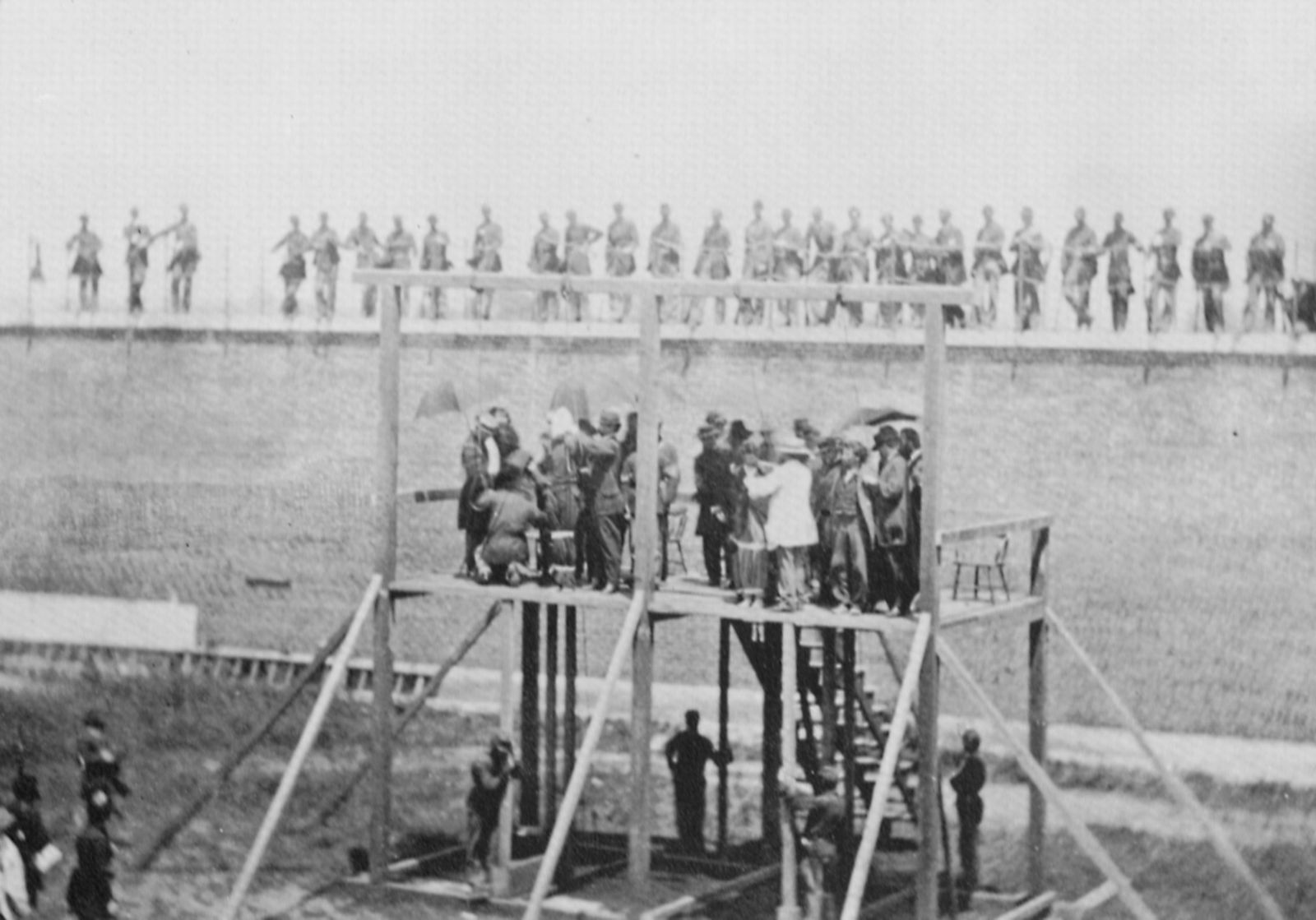 Amerikanischer Photograph Um 1865 Hinrichtung Der