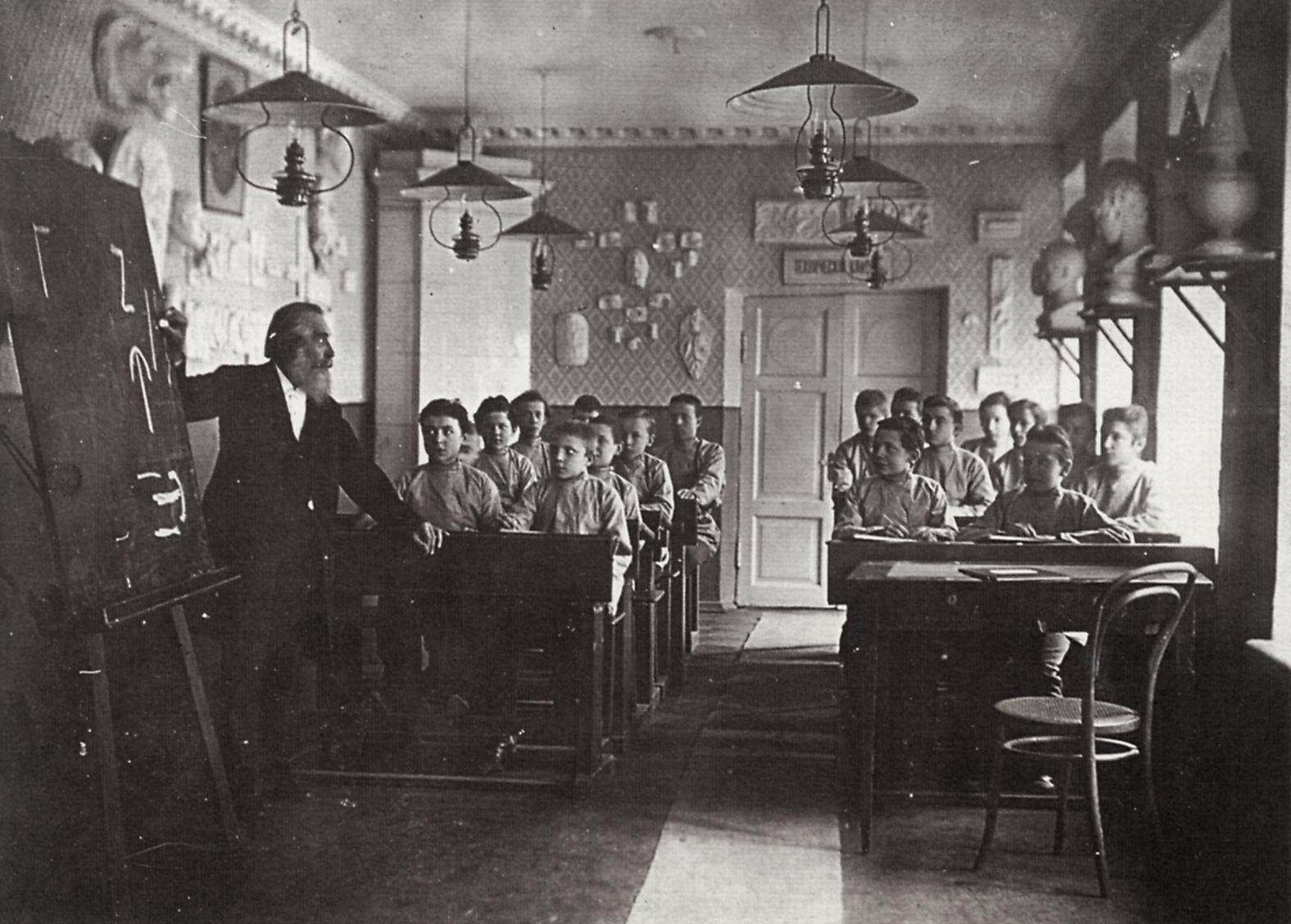 russischer photograph um 18901900 unterricht in einer