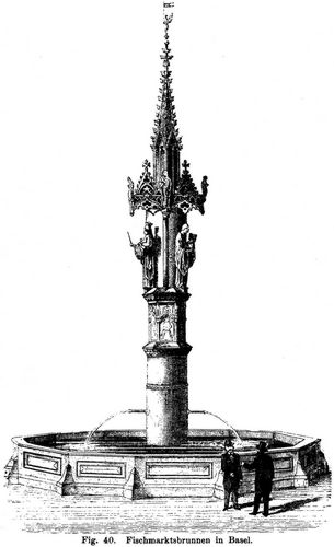 Fig. 40. Fischmarktsbrunnen in Basel.