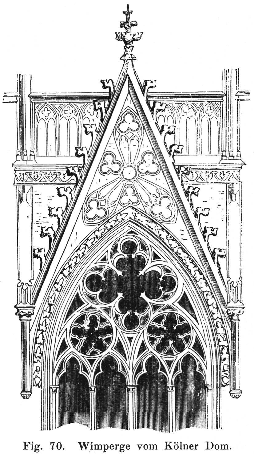 Fig 70 wimperge vom k lner dom - Architektur gotik ...