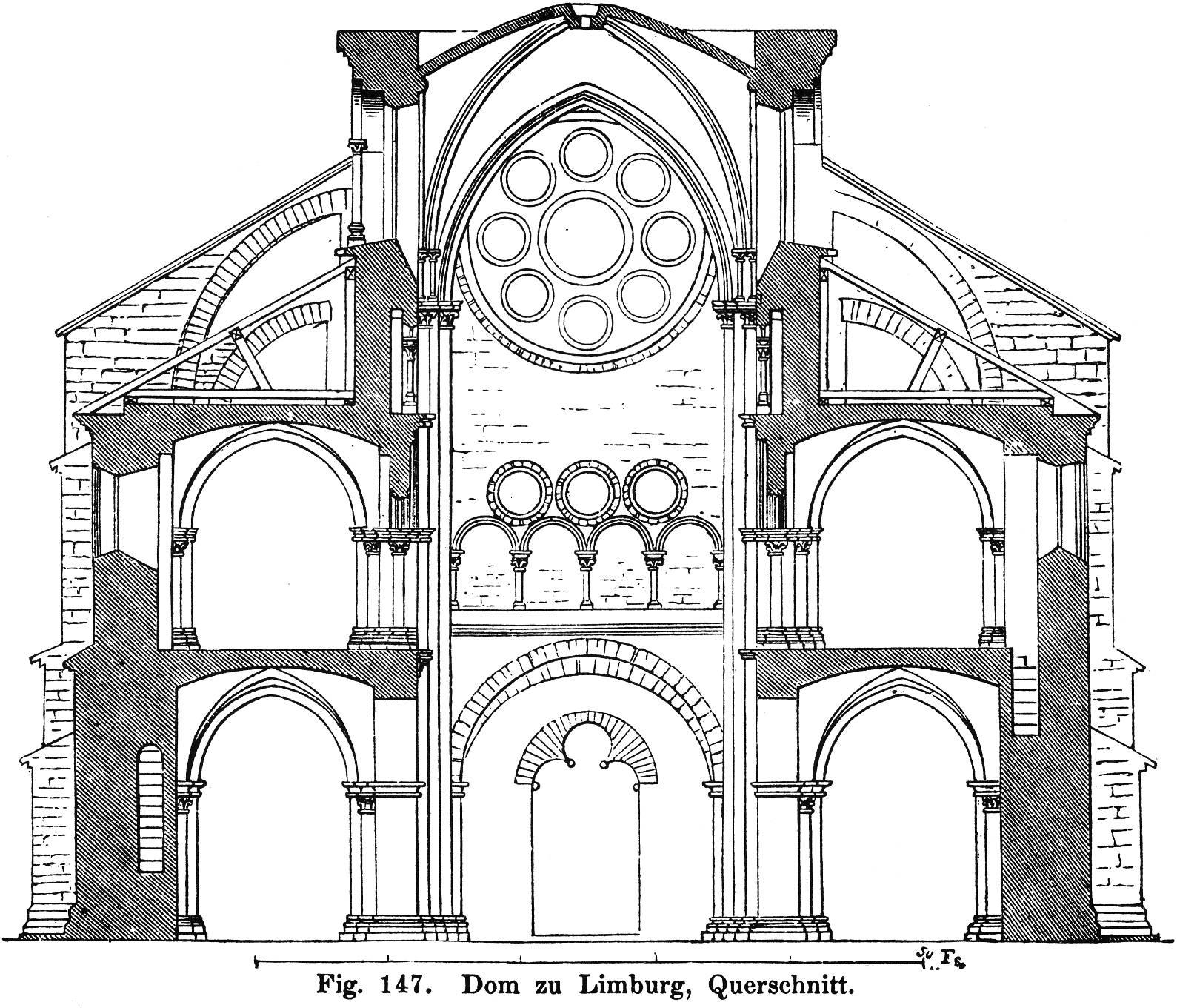 Grundriss Zeichnen Online Fig 147 Dom Zu Limburg Querschnitt Zeno Org