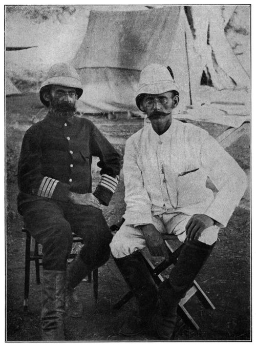 Peters und Emin Pascha in Mpuapua (Sommer 1890)