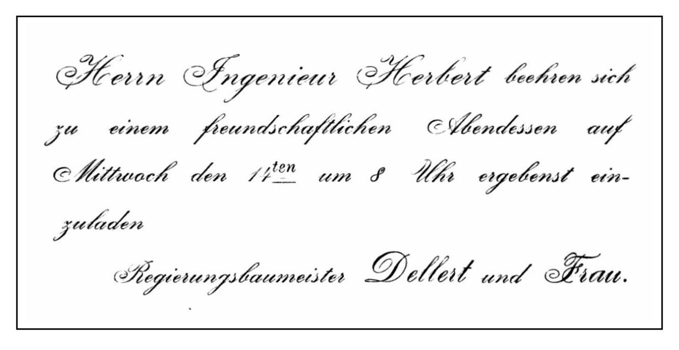 Wedell, J. von, ..., Einladungen, ihre Annahme und Absage - Zeno.org