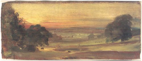 Constable, John: Das Stour Valley, Sonnenuntergang