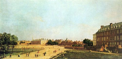 Canaletto (I): London, Old Horse Guards vom St. Jame's Park aus