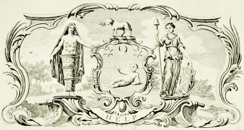 Hogarth, William: Wappen des Findelhauses