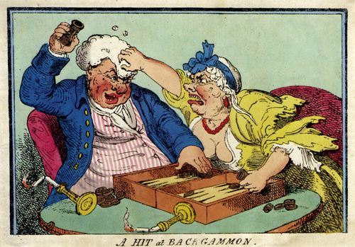 Cruikshank, George: Treffer beim Backgammon