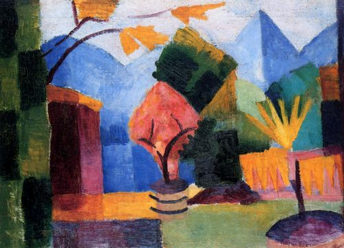 Macke, August: Garten am Thuner See