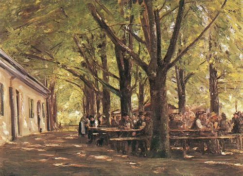 Liebermann, Max: Biergarten in Brannenburg