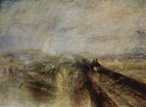 Turner, Joseph Mallord William: Regen, Dampf und Geschwindigkeit, der Zug Great Western Railway (Rain, Steam, and Speed – the Great Western Railway)