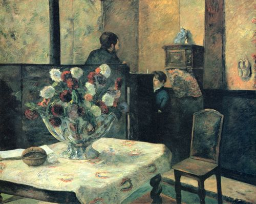 Gauguin, Paul: Interieur des Malers in der Rue Carcel