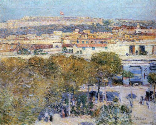 Hassam, Childe: Place Central und Fort Cabanas, Havana