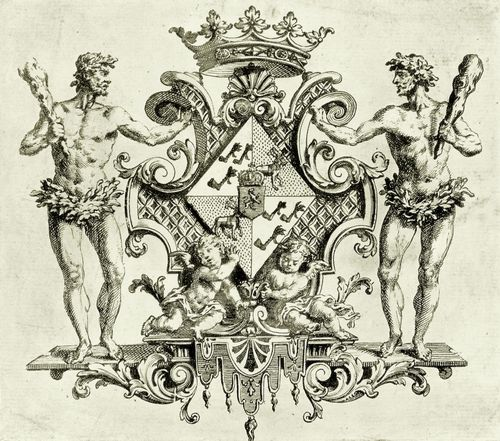 Hogarth, William: Wappen der Herzogin von Kendal