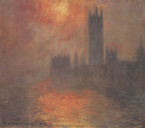 Monet, Claude: Die Houses of Parliament, Sonnenuntergang