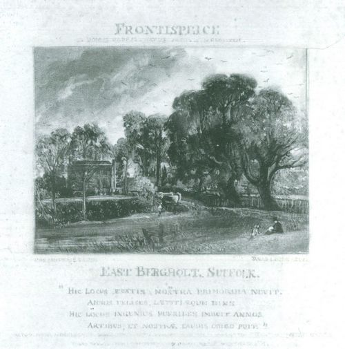 Constable, John: Frontispiece: East Bergholt, Suffolk