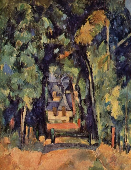 Cézanne, Paul: Straße in Chantilly